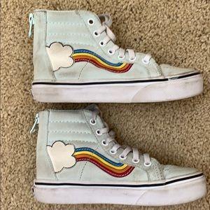 Rainbow hightop sneakers